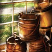 Farm - Pail - A Pile Of Pails Art Print