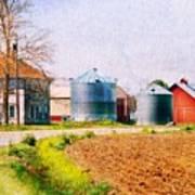 Farm Around The Corner Art Print