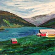 Farm At The Fjord Art Print
