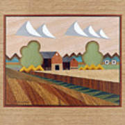 Farm By Ripon-marquetry Art Print