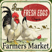 Farm Fresh Eggs-b Art Print