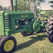 Farm Green Tractor Vintage Style Art Print