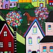 Farm Home Art Print