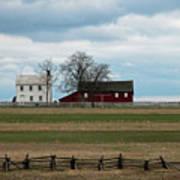 Farm House And Barn Art Print