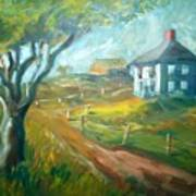 Farm In Gorham Art Print