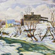 Farm In Winter Art Print