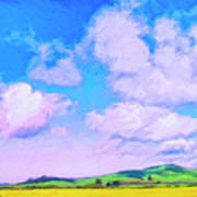 Farm Near San Luis Obispo Art Print