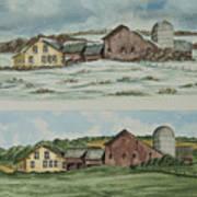 Farm Of Seasons Art Print