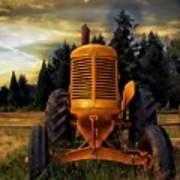 Farm On Art Print by Aaron Berg