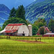 Farm, Randall, Wa Art Print