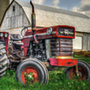 Farm Scene - Painting Art Print