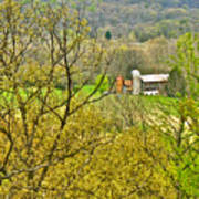 Farm Seen From Culp Hill Lookout In Gettysburg National Military Park-pennsylvania Art Print