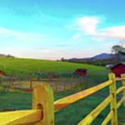Farm Yard Fence Art Print