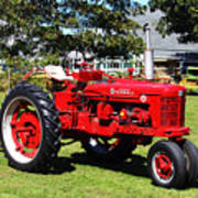 Farmall At The Country Fair Print by Andrew Pacheco