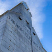 Farmers Grain Elevator, Power, Montana Art Print