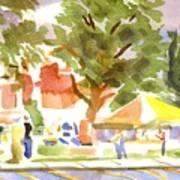 Farmers Market Ironton Missouri Art Print