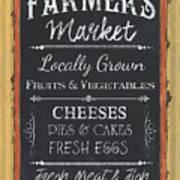 Farmer's Market Signs Art Print