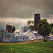 Farming Before The Storm Finger Lakes New York 04 Art Print