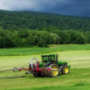 Farming New York State Before The July Storm 02 Art Print