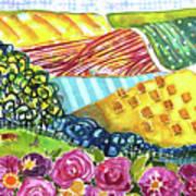 Farming Patterns Art Print