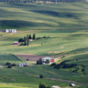 Farmland In Eastern Washington State Art Print
