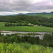 Farmland View Over The Connecticut River  Art Print