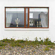 Facade - A Window With A Trophy To Show Art Print