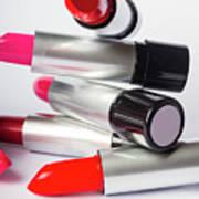 Fashion Model Lipstick Art Print