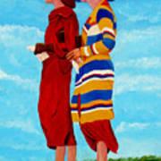 Fashionable Ladies Art Print