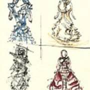 Fashionista 4 Art Print