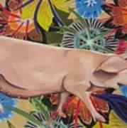 Fashionista Pig Art Print