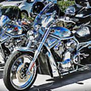Fat And Glitzy Harleys Art Print