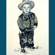 Father's Day Card - Little Buckaroo Art Print by Carmen Del Valle