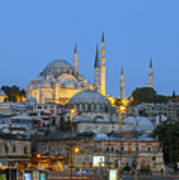 Fatih District In The Morning,istanbul. Art Print