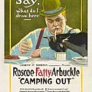 Fatty Arbuckle In Camping Out 1919 Art Print