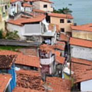 Favela In Salvador Da Bahia Brazil Art Print