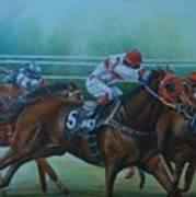 Favorite, Horse Race Art Art Print