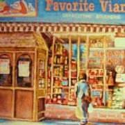 Favorite Viande Market Art Print