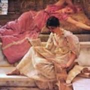 Favourite Poet Lawrence Alma-tadema Art Print