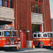 Fdny Engine 88 And Ladder 38 Art Print