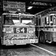 fdny fire station with engine 54 and ladder 5 battalion 9 New York City USA Art Print