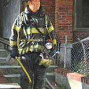 Fdny Squad 41 Firefighter Art Print