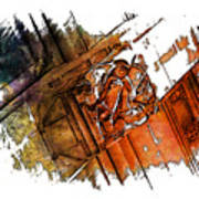 Fear Earthy Rainbow 3 Dimensional Art Print