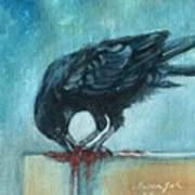 Feasting Raven Art Print