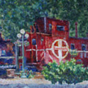 Featherbed Railroad Caboose Art Print
