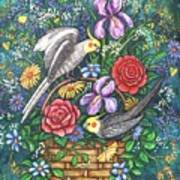 Feathered Frolic Art Print