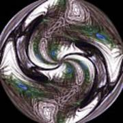Featherly Globe Art Print