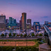Federal Hill In Baltimore Maryland Art Print