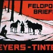 Feldpost-briefe - Beyers-tinten - Two Man With Horses - Retro Travel Poster - Vintage Poster Art Print