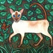 Felina And The Monarch Art Print